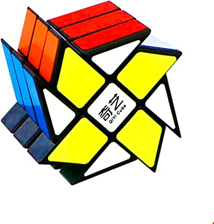 D ETERNAL Rubiks Rubix Rubic QiYi Windmill Cube 3x3x3 High Speed Magic Puzzle Cube