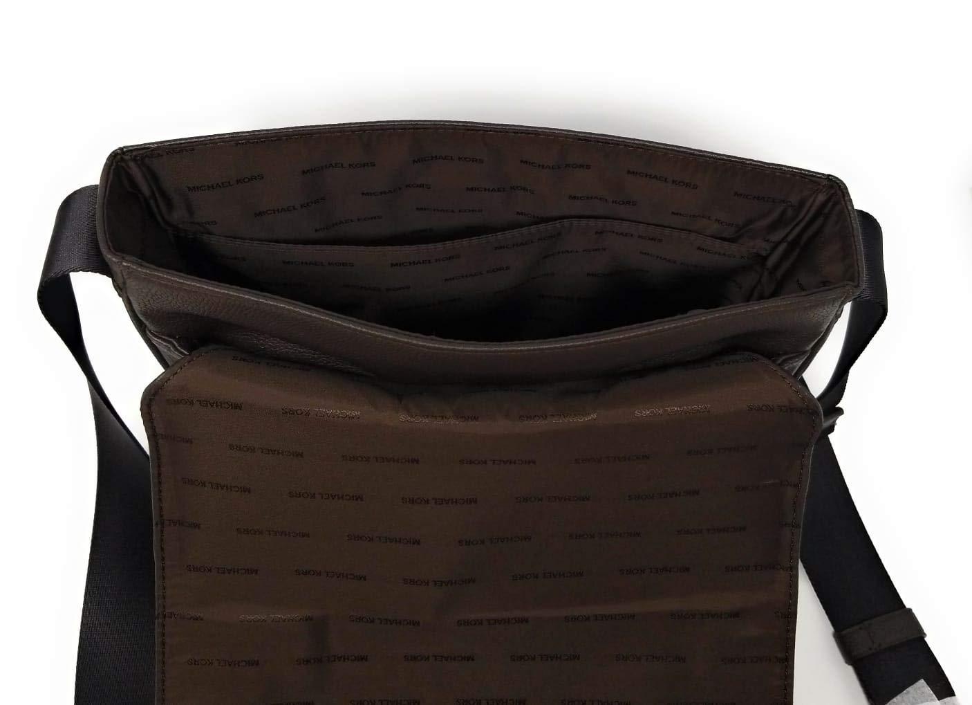 0d7f1cfc99bf Amazon.com: Michael Kors Mens Jet Set Crossbody Messenger Cross Body Bag ( Brown Leather): SHOE LAWYER