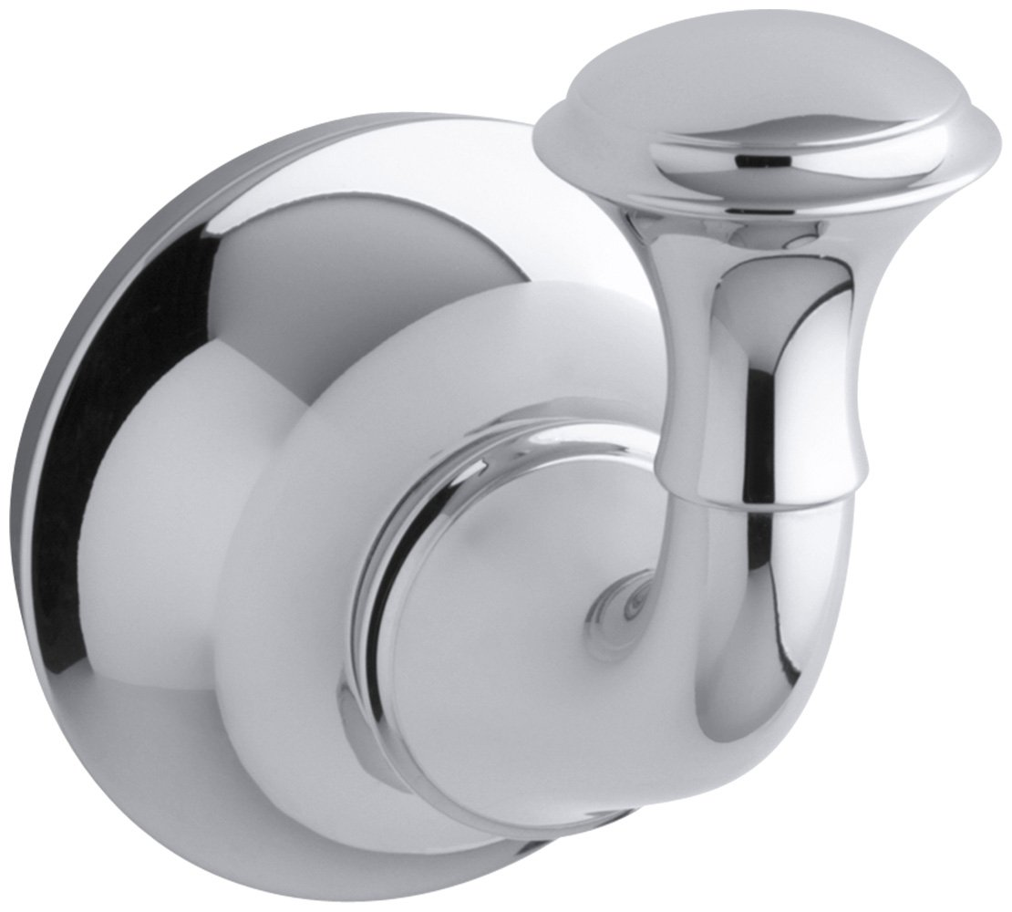 KOHLER K-11275-CP Forte Traditional Robe Hook, Polished Chrome by Kohler
