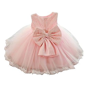 Mädchen Bowknot kleider - Baby Kinder kleid Tüll Spitze Prinzessin ...