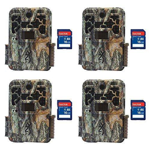 Browning Trail Cameras Recon Force Extreme 20MP Game Camera, 4 Pack + SD Cards by Browning Trail Cameras