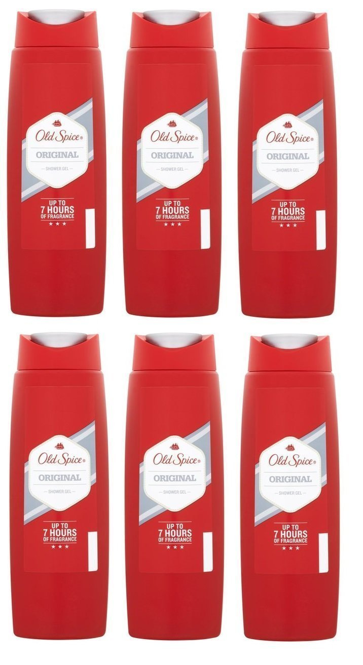 Old Spice ORIGINAL Shower Gel Mens Body Wash 250ml (6 Pack)