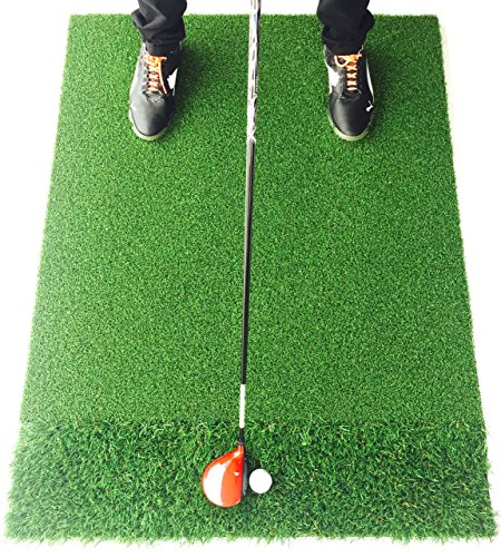 StrikeDown Dual-Turf Pro Golf Hitting Mat | Fairway and Rough Simulation Training Aid with Built-in Shockpad for Indoor and Outdoor Practice (36-Inch x 24-Inch) by Motivo Golf (Image #7)