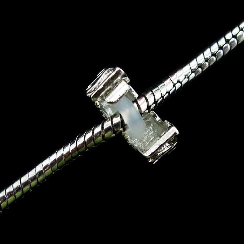 Kupfer Rubyca Clip-Verschl/üsse // Abstandhalter mit Gummi-Stopper f/ür europ/äische Charm-Armb/änder 10 St/ück Model 074