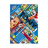 Kelloggs Breakfast Cereal, Frosted Flakes, Fat-Free, Giant Size, 33 oz Box