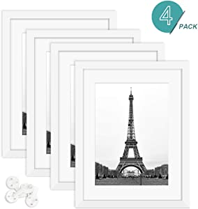 Decorative Photo Frame Set, 4 Piece Wall mounting Frame, High Definition Glass Frame, Wall Mounting 11x14 Picture Frame Set for Wall, Landscape Picture Frame