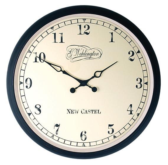 Nextime reloj de pared AALTJE, diseño retro, redondo, ø 34 cm: Amazon.es: Relojes