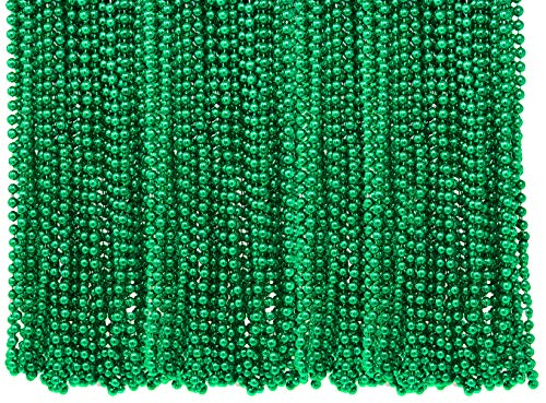 4E's Novelty Bulk Pack of 72 St. Patrick's Day Mardi Gras Colorful Beads Necklace 33