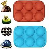 beiji 2 PCS Half Ball Sphere Cake Mold,DIY Nonstick Cake Mold,Food Grade Silicone Cake Mold for Festival Party Muffin…
