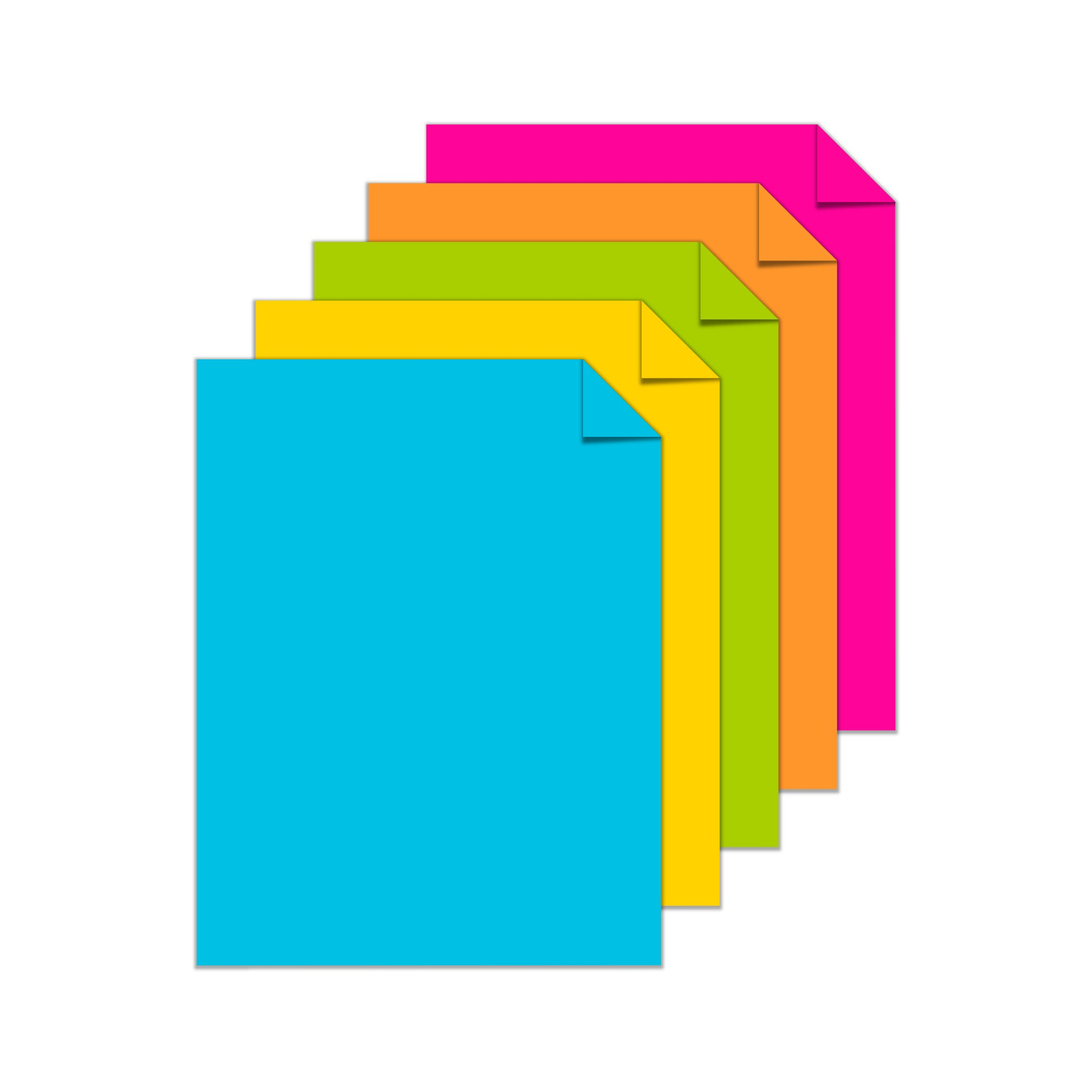 Astrobrights Colored Cardstock, 8.5'' x 11'', 65 lb/176 gsm, ''Bright'' 5-Color Assortment, 250 Sheets (99904) by Astrobrights (Image #3)