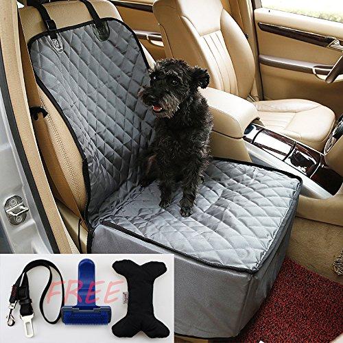 ACEDIUS Pet Seat Waterproof Cover with pet Toy,pet Brush,pet Leash for Cars(Black)