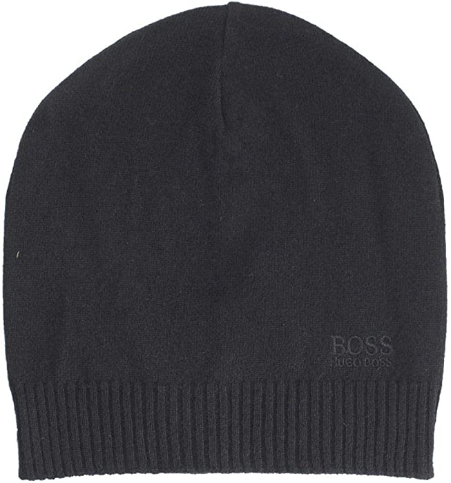 5968e44e5fc Amazon.com  Hugo Boss Knitted Beanie hat with Tonal Logo  Clothing