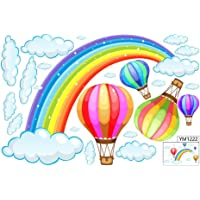 Rainbow Cloud Wall Sticker Creative Window Stickers Removable Wall Decals for Home Christmas Decoration