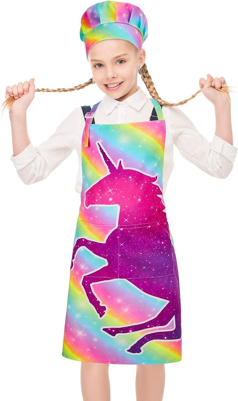 Little Girl Apron Cooking Apron Girl Apron Toddler Apron Unicorn Apron Baking Apron Kids Apron