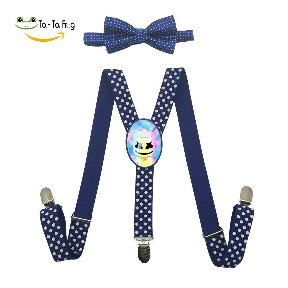 Marsh-Mello Unisex Kids Adjustable Y-Back Suspenders With Bowtie Set