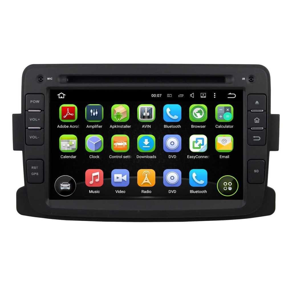 7 pouces Android 5.1.1 Lollipop stéréo de voiture pour Renault Duster 2012 2013 2014 2015 2016,DAB+ radio 1024x600 écran tactile capacitif avec Quad Core Cortex A9 1.6G CPU 16G flash et 1G de RAM DDR3 GPS