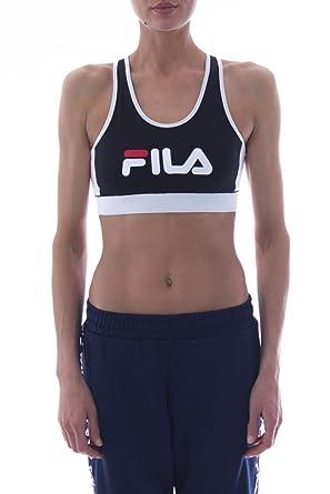 Fila - Sujetador Deportivo - para Mujer Negro L: Amazon.es: Ropa y ...
