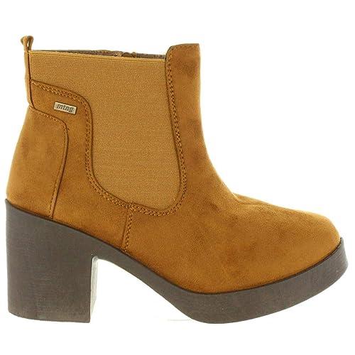 Botines de Mujer MTNG 58528 C36629 Camel: Amazon.es: Zapatos y complementos