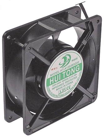 HUI TONG HT-A12038S220 - Ventilador axial (22/38,4 W, 230 V CA, 50/60 Hz, conector de 119 mm de ancho, aluminio, altura 38 mm, cable 300 mm): Amazon.es: Industria, empresas y ciencia