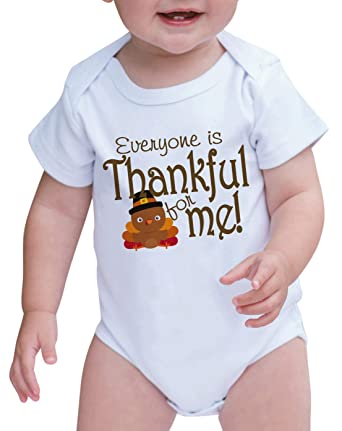 b7f40c427 7 ate 9 Apparel Baby Everyone is Thankful for Me Turkey Onepiece 0-3 Months