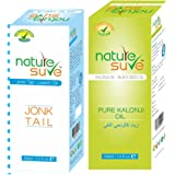Nature Sure combo of Kalonji Oil and Jonk Tail Hair Oil, 110ml of each pack