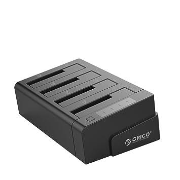 Orico 4-Bay SATA Hard Drive Docking Station (USB 3.0 / eSATA Dual Interface) with Quad Bay Design for 4 x 2.5