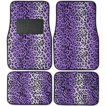 Amazon Com La Auto Gear Purple Leopard Animal Print Front