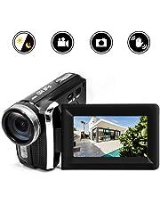 HG5250 Digital Video Camcorder FHD 1080P 12MP DV 270 Degree Rotation Flip Screen Video Camera for Kids/Beginners/Elderly