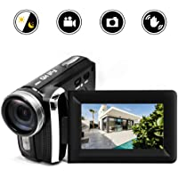 HG5250 Digital Video Camcorder FHD 1080P 12MP DV 270 Degree Rotation Flip Screen Video Camera for Kids/Beginners/Elderly