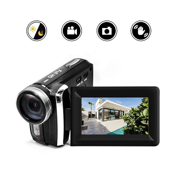 2 opinioni per HG5250 Videocamera digitale video FHD 1080P 12MP DV 270 gradi girevole per
