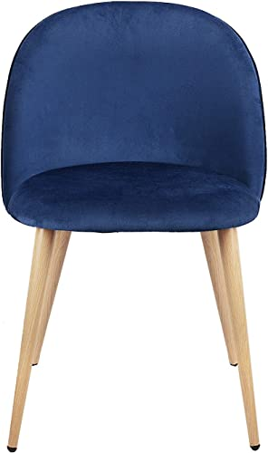 Multiple Colour Set of 2 Dining Chairs Mid Century Modern Accent Velvet Leisure Chairs Upholstered Side Chair