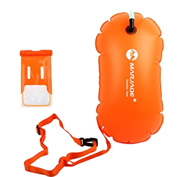 D DOLITY Funda Naranja de Almacenamiento de Teléfono y Bolso Flotador para Natación Hecho de Material PVC: Amazon.es: Deportes y aire libre