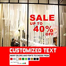 CUSTOM WALL OR WINDOW DECALS VINYL FOR STORES SHOPS SALES STICKERS, show room