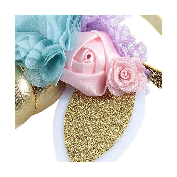 Nishine Baby Elastic Glitter Unicorn Horn Headband Children Unicorn Party Supplies Cosplay Gift 10