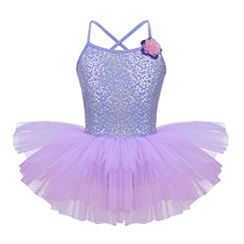 e849671cd iEFiEL Kids Girls  Sequins Ballet Tutu Dress Gymnastic Leotard ...