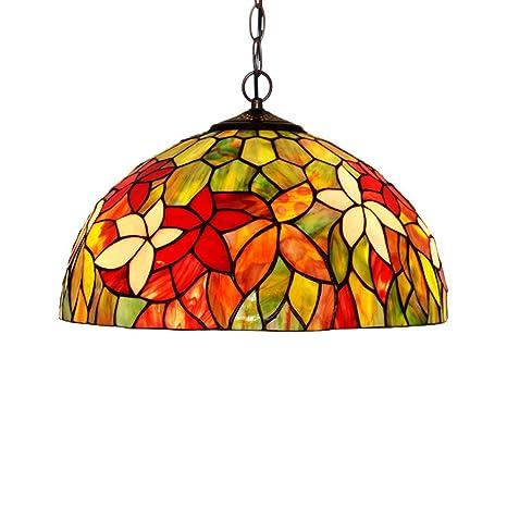tropicalfan Tiffany lámpara de techo con tulipa de cristal ...