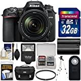 Nikon D7500 Wi-Fi 4K Digital SLR Camera & 18-140mm VR DX Lens 32GB Card + Case + Flash + Battery + Tripod + UV Filter + Remote + Kit