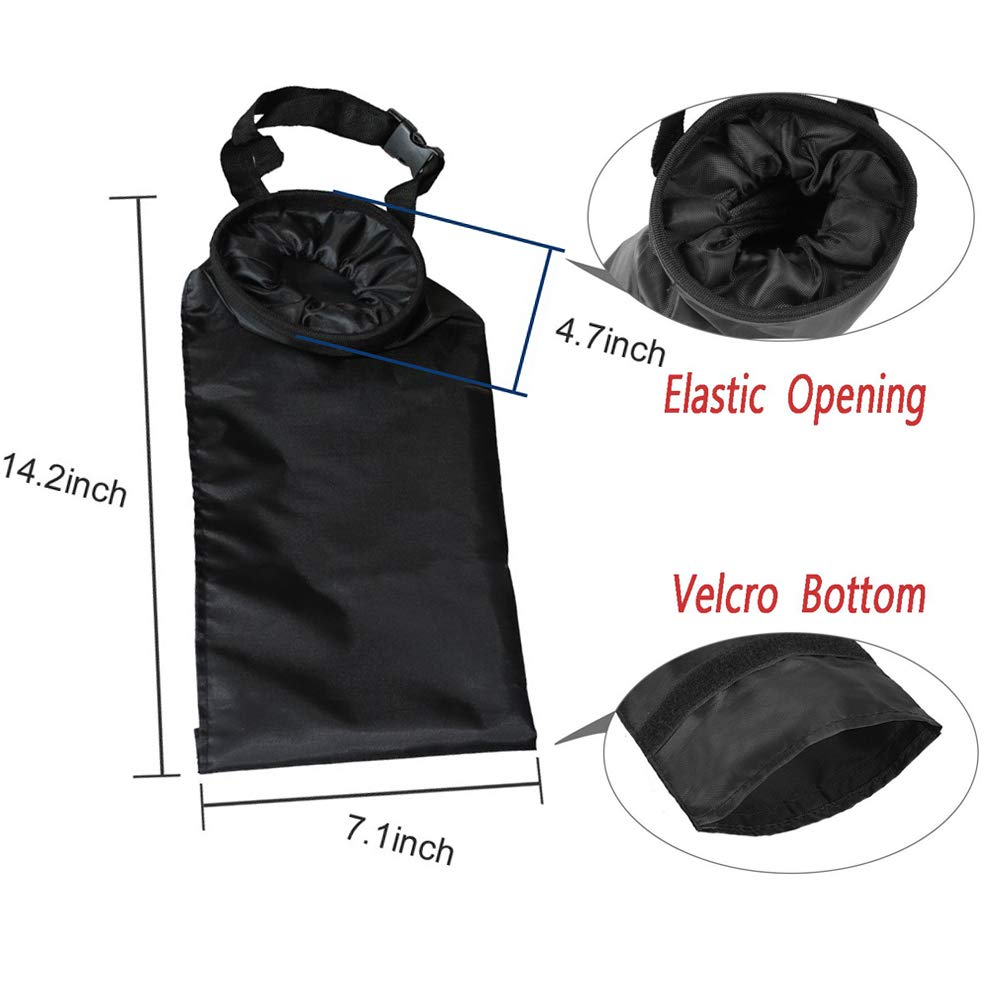 Eco-Friendly Seat Back Universal Vehicle Litter Bag Ralos 2 Pack Foldable Car Interior Trash Can Bag Large Capacity Headrest Leakproof Protable Traveling Garbage Bag