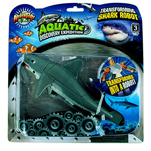 Aquatic Discovery Expedition Transforming Great White Shark to Robot Toy ~ 5'' Action Figure ~ Great Gift for boys and girls! by Aquatic Discovery Expedition