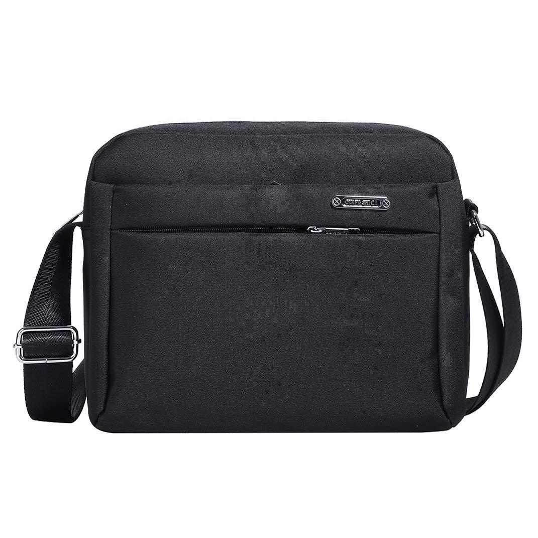 Men s Messenger Bag – Crossbody Shoulder Bags Travel Bag Man Purse Casual Sling Pack for Work Business Black