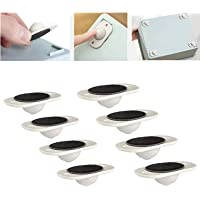 Bed Storage Box 8 Pcs Paste Type Universal Pulley Trash Can Cute Mini Self-Adhesive Caster Strong Plastic Wheel 360 Degree Rotation Caster Paste Type Universal Pulley for Bottom Storage Rack