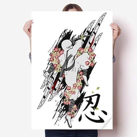 DIYthinker 80X55Cm Japón Cultura Ninja Samurai Espada de ...