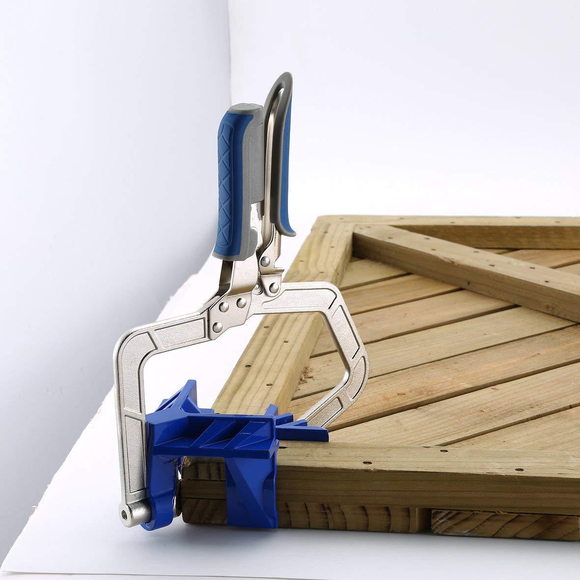 90 Grad rechtwinklig feste Stanzmaschine Eckspanner Gehrungslehre Holzbearbeitungswerkzeug T-Verbindungen KHCCC F/ür Kreg Jigs-Blue