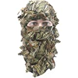 EAmber Ghillie Camouflage Leafy Hat 3D Full Face Mask Headwear Turkey Realtree Camo Hunter Hunting Accessories