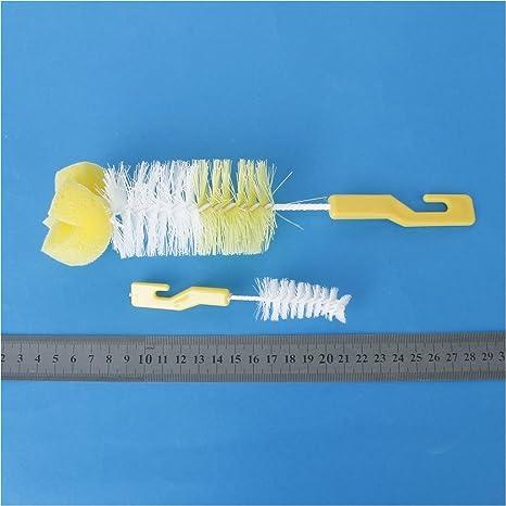 Home Hook Style Handle Milk Milk Bottle Nipple clean brush 2 in 1 SODIAL clean brush R