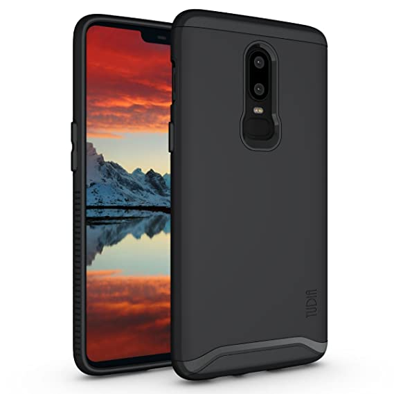 info for c9e02 c4161 OnePlus 6 Case, TUDIA Slim-Fit Heavy Duty [Merge] Extreme Protection/Rugged  but Slim Dual Layer Case for OnePlus 6 (Matte Black)