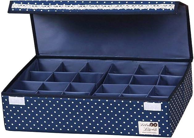 Sivin - Caja de almacenamiento plegable y ajustable con divisores para guardar sujetadores y ropa interior: Amazon.es: Hogar