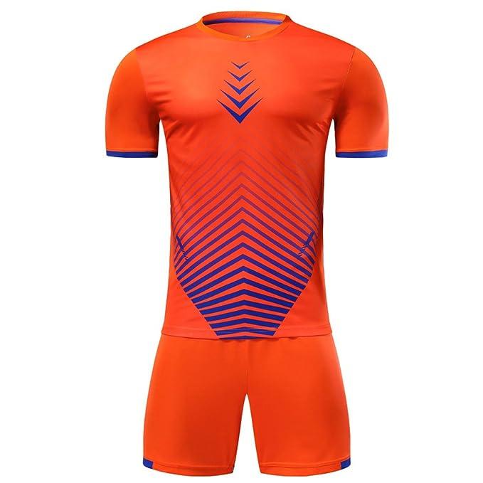 KINDOYO Ropa Deportiva de Entrenamiento de fútbol para Hombres y niños, Camiseta de fútbol de Secado rápido Transpirable + Pantalones Cortos de fútbol: ...