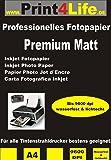 100 feuilles de papier photo couché spécial MATT deux côtés 210g /m² A4; Papier imagerie double face 210; Mattes papier photo pour les impressions recto-verso de haute qualité. • Cartes de voeux • impressions de photos • Rapports • Certificats • Brochures