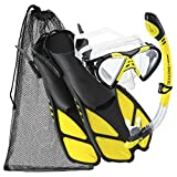 Cressi Adjustable Mask Fin Snorkel Set with Carry Bag